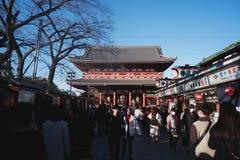 Templo de Asakusa no Tóquio Japão fotos de stock royalty free