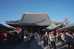 Templo de Asakusa no Tóquio Japão imagens de stock royalty free