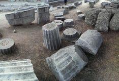 Templo de Asklepion em Kos fotografia de stock