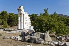 Templo de Asklipios en Epidaurus Fotos de archivo libres de regalías