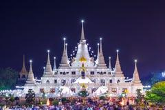 Templo de Asokaram, província de Samutprakarn, Tailândia Foto de Stock Royalty Free