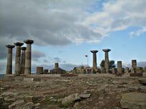 Templo de Athena em Behramkale Turquia Imagem de Stock