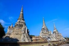 Templo de Ayuthaya, Tailândia, Imagens de Stock Royalty Free