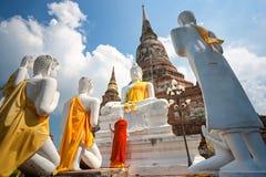 Templo de Ayuthaya, Tailandia, fotografía de archivo