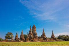 Templo de Ayutthaya histórico Fotografía de archivo libre de regalías