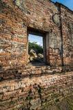 Templo de Ayutthaya, historia de Tailandia Buda foto de archivo
