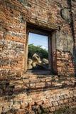 Templo de Ayutthaya, historia de Tailandia Buda fotografía de archivo