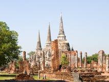 Templo de Ayutthaya histórico Foto de archivo libre de regalías