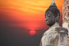 Templo de Ayutthaya de Tailândia fotos de stock