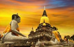 Templo de Ayutthaya, Tailândia imagens de stock