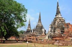 Templo de Ayutthaya, Tailandia. Imagenes de archivo