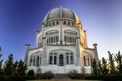 Templo de Bahai Fotografía de archivo