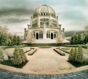Templo de Bahai en Illinois Imágenes de archivo libres de regalías
