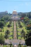 Templo de Bahai en la demostración de Haifa en hasta Carmel Fotografía de archivo libre de regalías