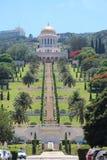 Templo de Bahai en la demostración de Haifa en hasta Carmel Imagen de archivo libre de regalías