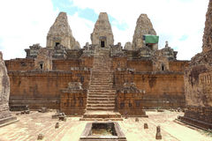 Templo de Baksei Chamkrong imagem de stock
