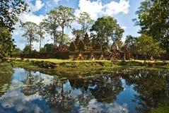 Templo de Banteai Srei, Cambodia. imagens de stock royalty free
