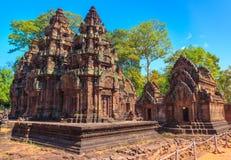 Templo de Banteay Srei fotos de stock