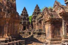 Templo de Banteay Srei foto de stock