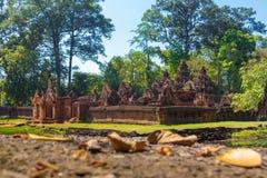 Templo de Banteay Srei imagens de stock