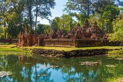 Templo de Banteay Srei fotografia de stock