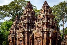 Templo de Banteay Srei Fotos de archivo