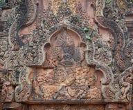 Templo de Banteay Srei, Angkor, Cambodia fotos de stock royalty free