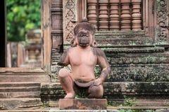 Templo de Banteay Srei em Siem Reap imagens de stock