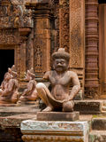 Templo de Banteay Srei en Angkor Wat Fotografía de archivo