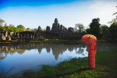 Templo de Bayon fotos de stock royalty free