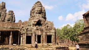 Templo de Bayon, Angkor, Cambodia Fotos de Stock