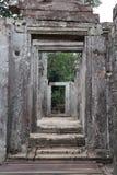 Templo de Bayon em Angkor Thom Foto de Stock