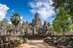 Templo de Bayon em Angkor Thom Fotos de Stock Royalty Free