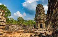 Templo de Bayon en Angkor Thom Complex, Camboya Imágenes de archivo libres de regalías