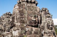 Templo de Bayon en Angkor Wat, Foto de archivo libre de regalías