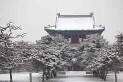 Templo de Bell después de la nieve Imagen de archivo