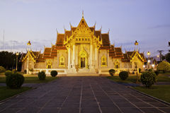 Templo de Benchamabophit de Bangkok Tailandia Foto de archivo
