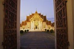 Templo de Benchamabophit de Banguecoque Tailândia Imagem de Stock Royalty Free