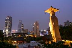Templo de Bongeunsa em Seoul, Coreia do Sul fotos de stock