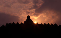 Templo de Borobudur Fotos de Stock