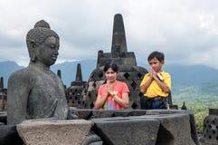 Templo de Borobudur Imagem de Stock Royalty Free