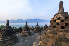 Templo de Borobudur Buddist Imagen de archivo