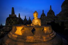Templo de Borobudur Buddist Fotografia de Stock Royalty Free