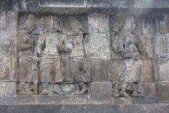 Templo de Borobudur del alivio Fotografía de archivo