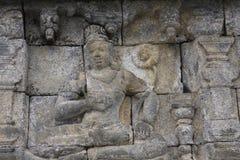 Templo de Borobudur del alivio Fotos de archivo libres de regalías