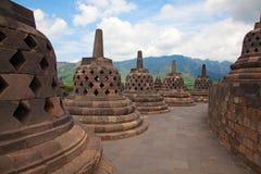 Templo de Borobudur em Indonésia Fotografia de Stock Royalty Free