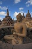 Templo de Borobudur em Yogyakarta, Indonésia Foto de Stock Royalty Free