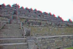 Templo de Borobudur en estéreo Fotografía de archivo