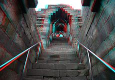 Templo de Borobudur en estéreo Fotos de archivo libres de regalías