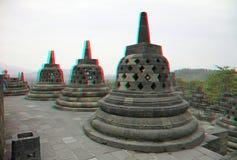 Templo de Borobudur en estéreo Fotografía de archivo libre de regalías